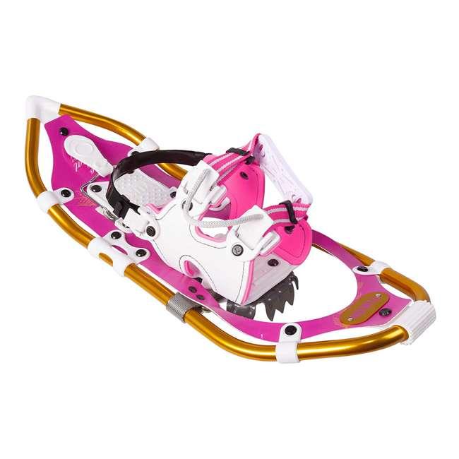 80-2011k Yukon Charlie's Pro Float Women's Fashion Snowshoe Kit w/ Poles and Bag, Pink 1