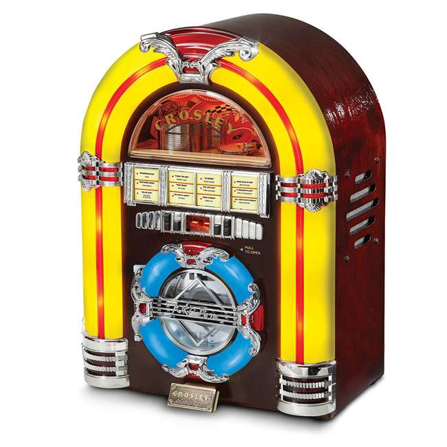 CR1101A-CH Crosley LED Tabletop Jukebox CD Player