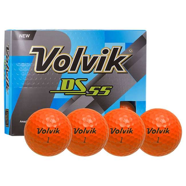DS-55 (Orange) Volvik DS55 Dual Spin 12 Pack of Golf Balls, Orange