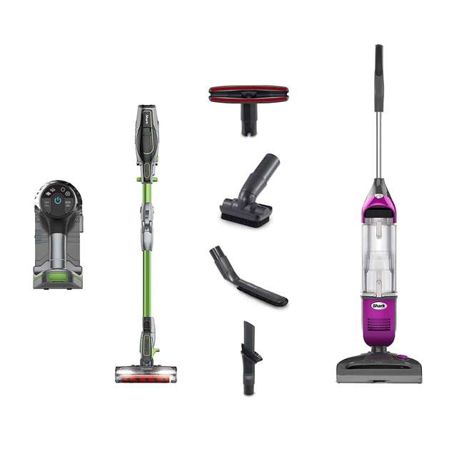 IF201_EGB-RB + SV1100FUSCHIA-RB Shark IONFlex Vacuum & Freestyle Vacuum (Certified Refurbished)