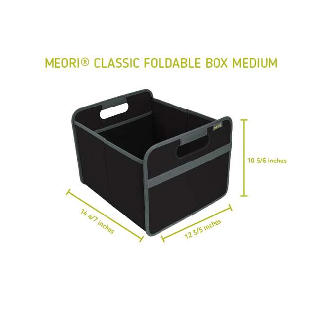 A100025 + A100196 + A100001 Meori Classic Collection 4, 6.5, & 8-Gallon Foldable Boxes, Lava Black 9