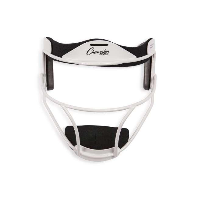 FMAWH Champion Sports FMAWH Adjustable Strap Adult Softball Fielder's Face Mask, White
