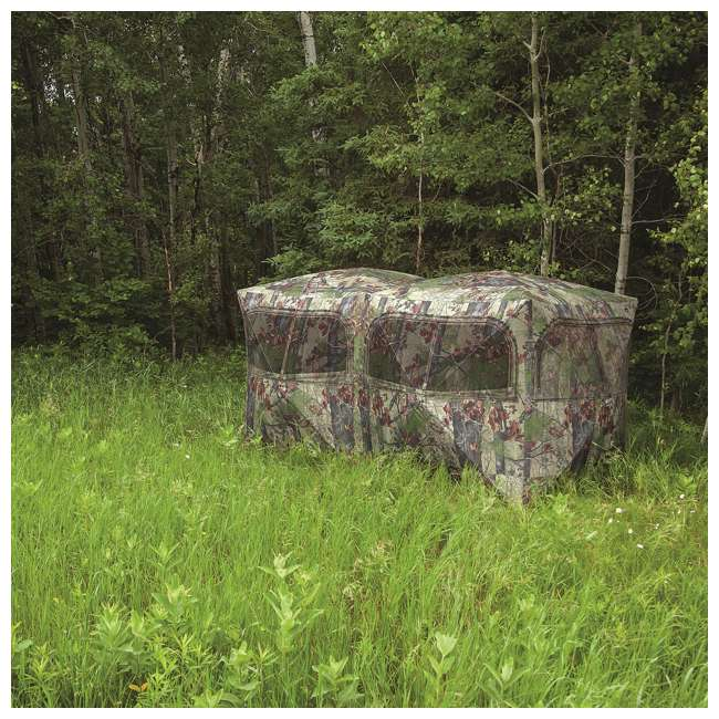 BARR-BE650BW Barronett Blinds BE650BW Big Beast Backwoods Double Wide Hub Hunting Blind, Camo 5