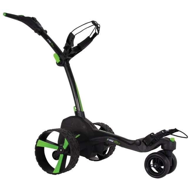 US-ZIPX5B MGI Zip X5 Electric Golf Push Cart Swivel Wheel Caddie with Accessories, Black 1