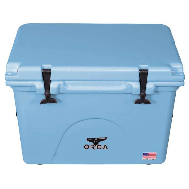 ORCLB058 Orca ORCLB058 58 Quart 72 Can Roto Molded Insulated Ice Chest Cooler, Light Blue 2