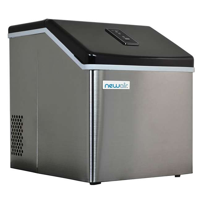 CLEARICE40 NewAir Counter-Top Clear Ice Maker Machine, Stainless Steel