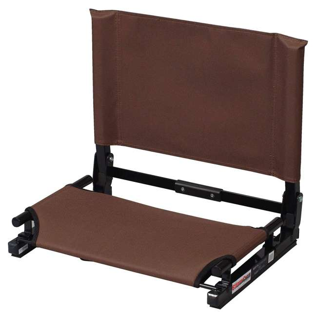 SC2-BRWN Stadium Chair Game Changer Bleacher Seat, Brown (2 Pack) 1