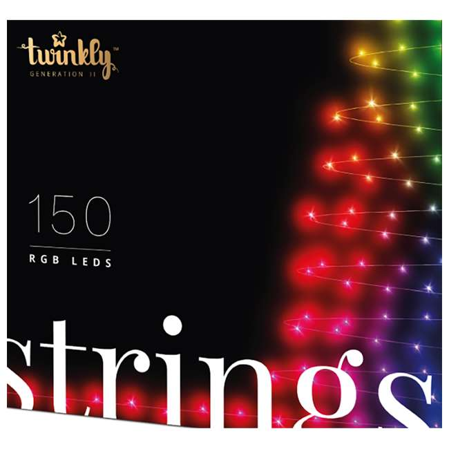 TWS150STP-BUS Twinkly Smart Decorations Custom 150 Bulb LED RGB App-Controlled String Lights