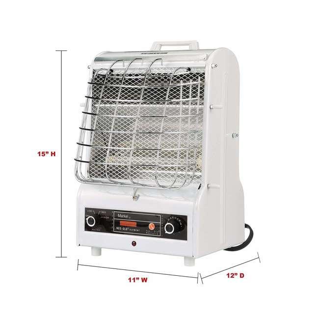 198TMC TPI Corporation 198TMC 1500 Watt Electric Fan Forced Air Heating Portable Heater 3