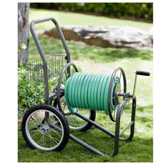LBG-880-2 Liberty Garden 2-Wheel Steel Frame Water Hose Cart, Bronze (2 Pack) 2