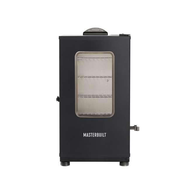 MB20072318 Masterbuilt Digital Electric Stainless Steel BBQ Smoker Grill, Black