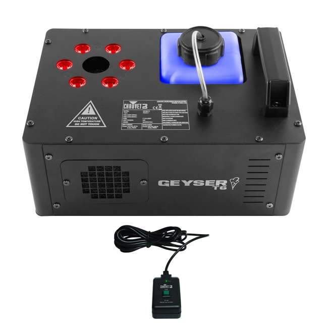 GEYSER-T6-OB Chauvet DJ Geyser T6 Fog Machine and Light Effect + 2) Chauvet Fog Juice Fluid (1 Gallon)
