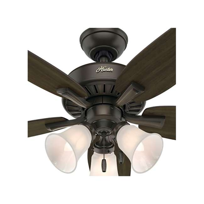 52116 Hunter 52116 Atkinson 46 Inch 4 Blades Indoor Ceiling Fan with Light, Bronze 2