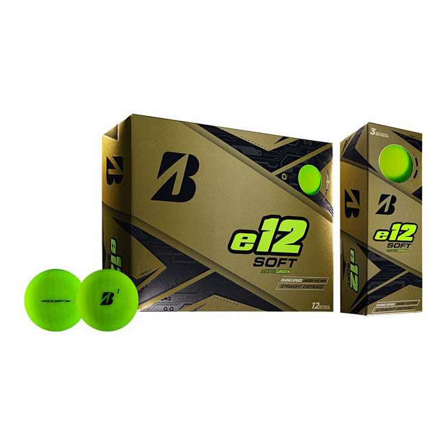 6 x 9CGX6D Bridgestone Golf Series e12 3-Piece Distance Golf Balls 1 Dozen, Green (6 Pack) 1
