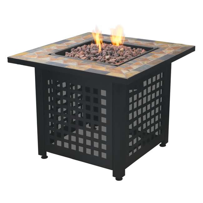 3 x GAD1428SP Endless Summer Propane Powered Square Outdoor Patio Firetable w/ Rocks (3 Pack) 1
