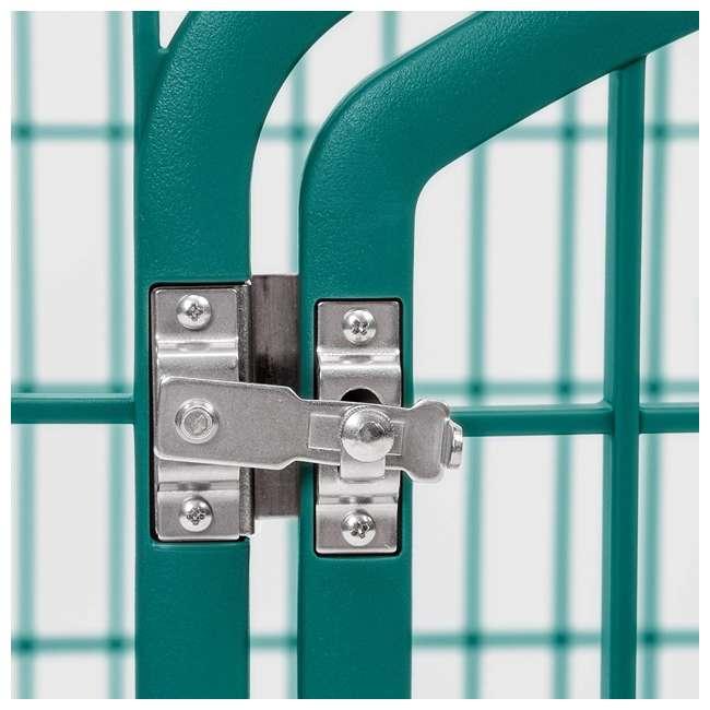 585600 IRIS USA 585600 4-Panel Plastic Indoor Outdoor Pet Playpen, Everglade Green 2