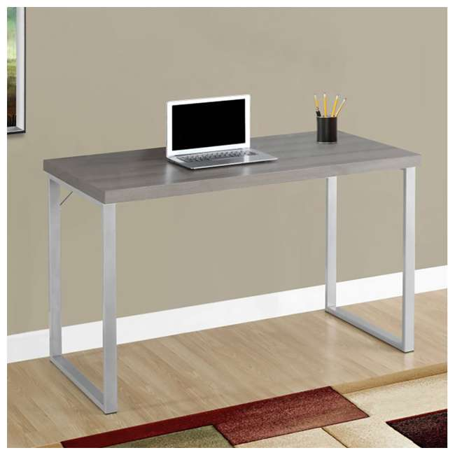 VM-7155 Monarch Specialties 47-Inch Computer Desk, Dark Taupe  1