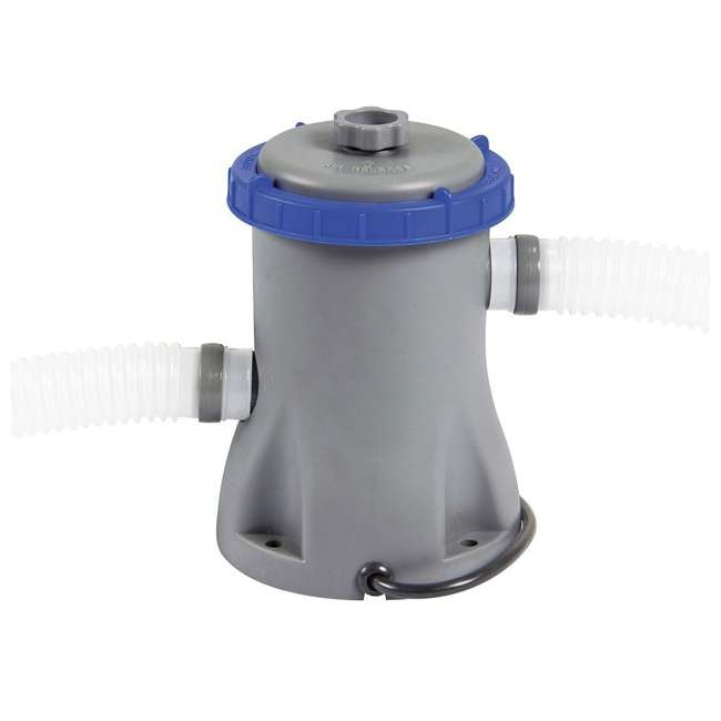 56545E-BW + 58382E-BW Bestway Above Ground Pool and Flowclear Filter Pump  2