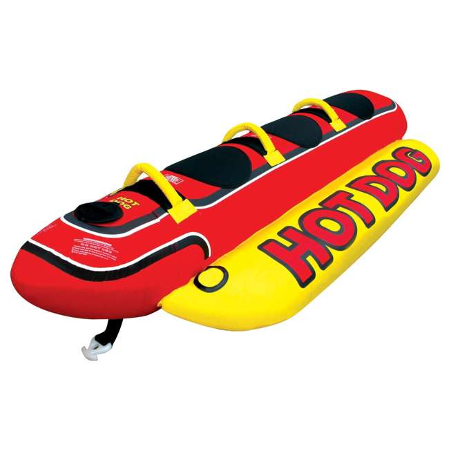 HD-3 + AHBOB-1 AIRHEAD Hot Dog 3 Person Tube & w/ Inflatable Buoy Booster Ball 2
