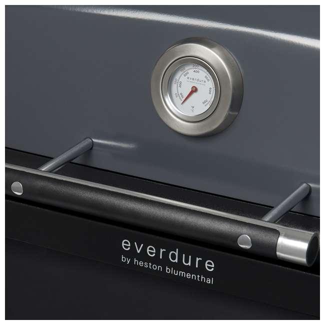 HBG3GUS Everdure HBG3GUS 42.65 Inch 3 Burner Furnace Freestanding Propane Grill, Gray 5