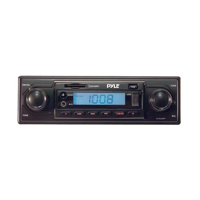 Pyle AM/FM-MPX MP3 Shaft Style Dual Knob Radio With USB/SD