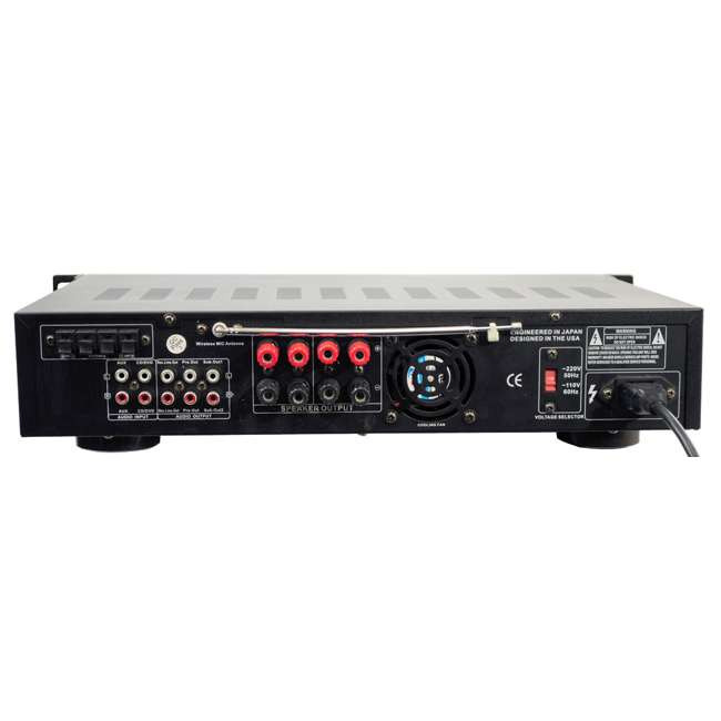PWMA3003T Pyle Pro PWMA3003T 3000W Hybrid Pre Amplifier with USB and 2 Microphones 1