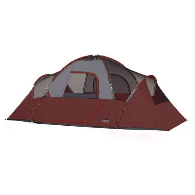 CORE-40066-U-A CORE 9-Person Extended Dome Tent, 16 x 9 Feet, Red (Open Box) 1