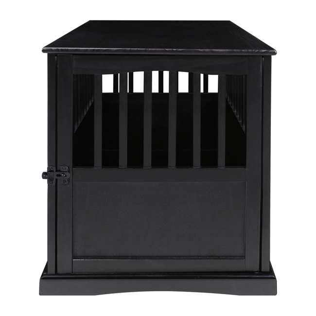 600-22 Casual Home Large Pet Crate End Table, Black