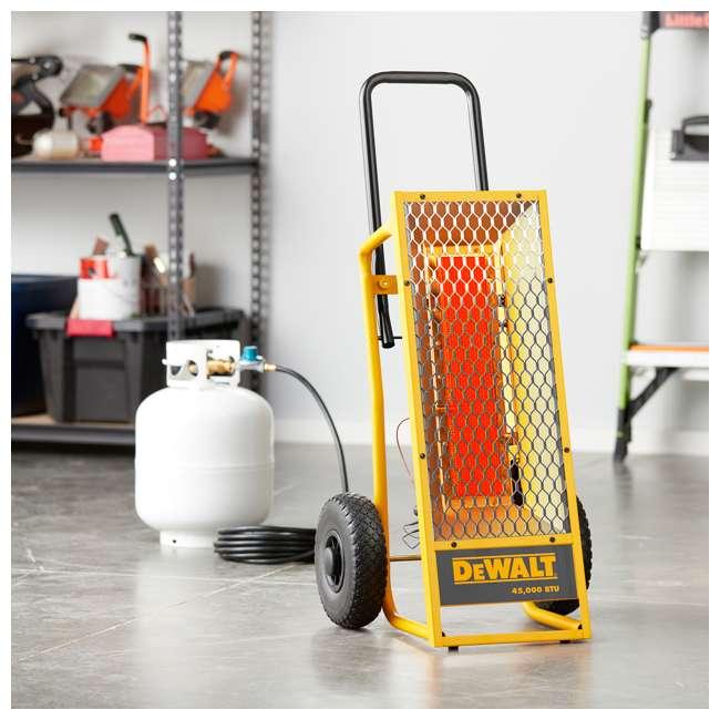 MH-F340620 Dewalt 45,000 BTU Radiant Propane Portable Job Site Heater 6