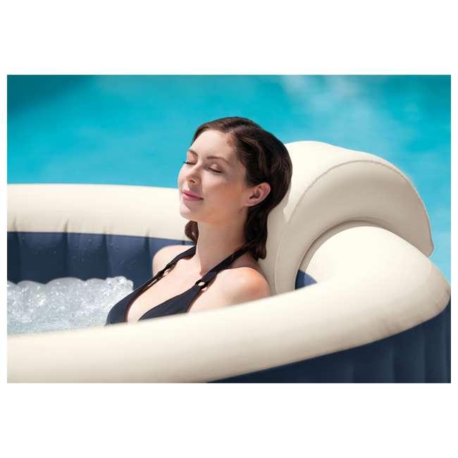 28431E Intex PureSpa Plus 6 Person Portable Inflatable Hot Tub Bubble Jet Spa, Navy 4