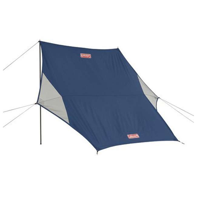 Coleman 2 Pole Sun Shade u0026 Rain Shelter Tent Canopy + C&ing Tent Kit w/ Hammer/Stakes  sc 1 st  VMInnovations & Coleman 2 Pole Sun Shade u0026 Rain Shelter Tent Canopy + Camping Tent ...