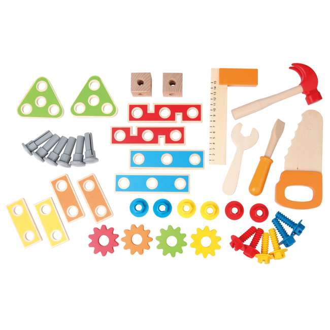 E3000 Hape Wooden Child Master Tool and Workbench Toy Builder Set (For Parts) 3