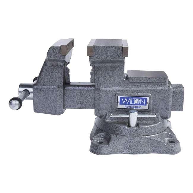 WIL-28821 Wilton 28821 5.5 Inch Jaw Width Anvil Reversible Swivel Base Work Bench Vise 2