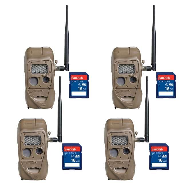4 x J1415-LONGRANGE + 4 x SD4-16GB-SAN Cuddeback CuddeLink 20MP Wireless IR Game Trail Camera + 16GB SD Card (4 Each)