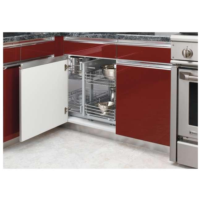 5PSP-15-CR Rev-A-Shelf 5PSP-15-CR 15 Inch Chrome Blind Corner Kitchen Cabinet Organizer 1