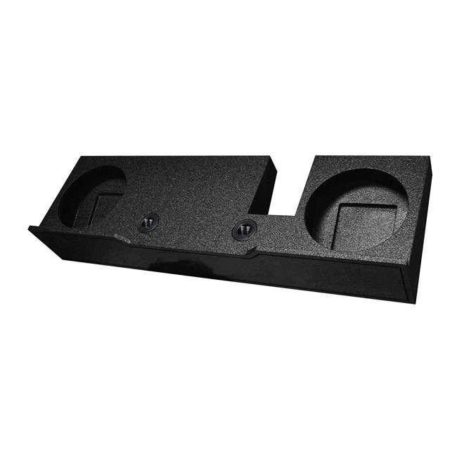 "QBFORD10-2004-U-C QPower 2 Hole 10"" Subwoofer Enclosure Box 2004-2008 F-150 (For Parts) 1"