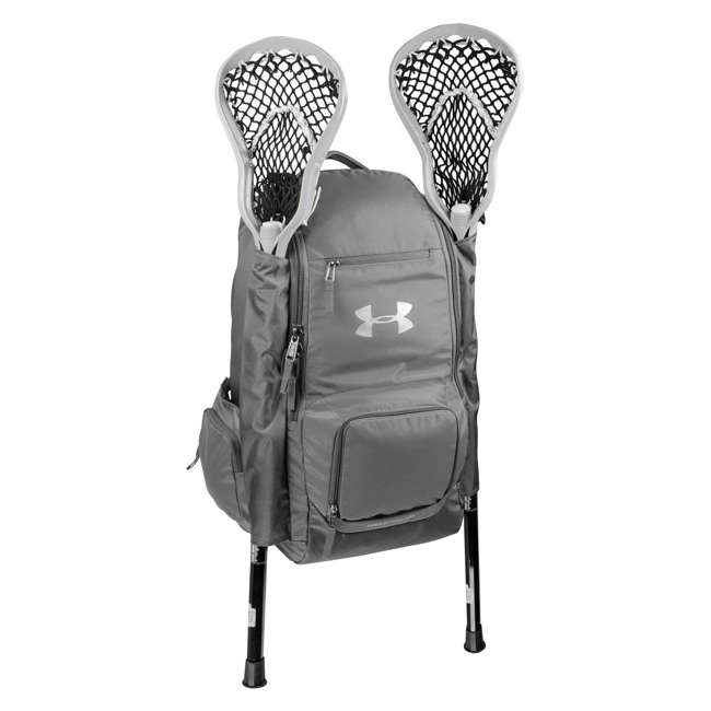 UASB-LBP2-GY-U-B Under Armour 2 Stick Water Resistant Lacrosse Gear Backpack Bag, Gray (Used)