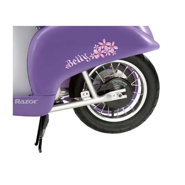 15130661 + 97783 Razor Pocket Mod Electric Retro Scooter, Purple & Helmet 5