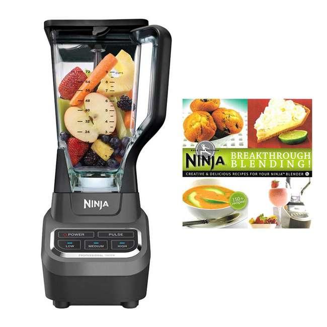 BL610_EGB-RB + XPB600W Ninja 150 Recipe Book & Work Top Blender (Certified Refurbished)