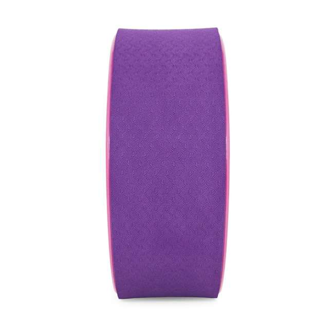 ps-1071-yw-purple/pink Prosource Fit 12 Inch Yoga Wheel Prop Exercise Fitness Equipment, Purple/Pink 1