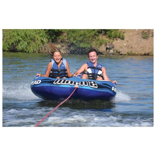 AHM2-2 Airhead Mach 2 Inflatable 2-Rider Water Towable Tube 2