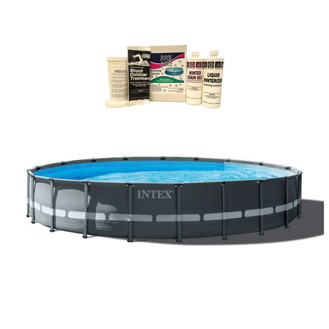 26333EH + QLC-57610 Intex 20ft x 48in Ultra XTR Frame Pool Set w/ Pump, Ladder, & Winterizing Kit