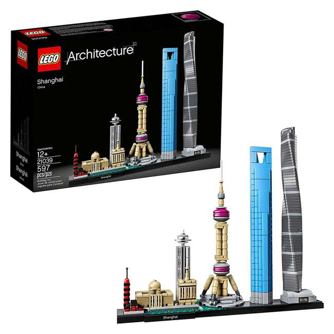 6213423 LEGO Architecture 597 Piece Shanghai Skyline Building Set for Kids 12 Years & Up 1
