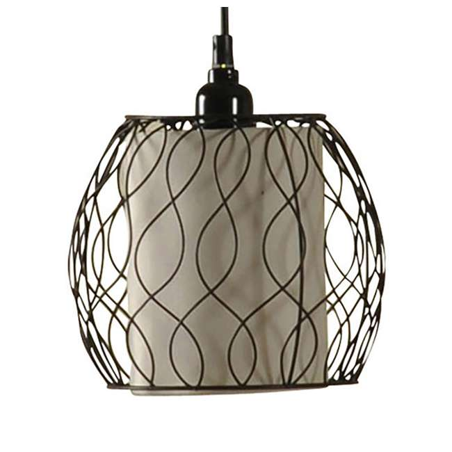 SC-L72385 Abode 84 Clifton Mid-Modern Bronze Floor Lamp with Caged Shades 1