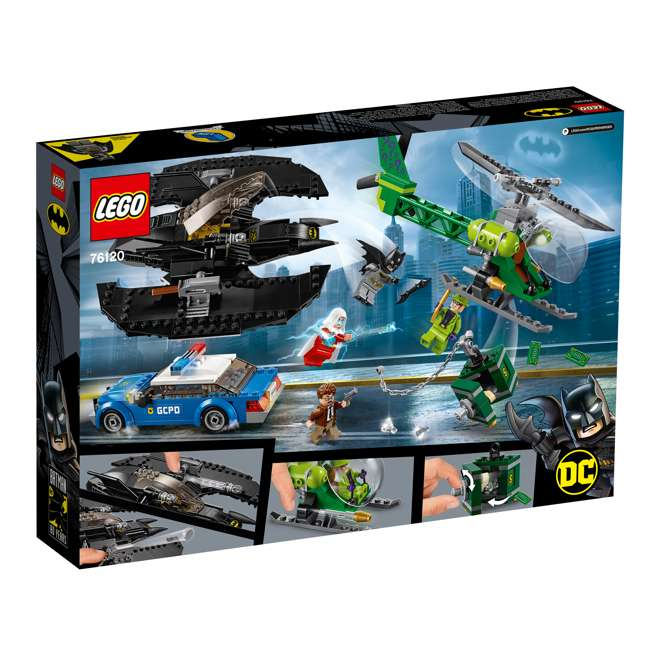 6251469 LEGO DC Batman 76120 Batwing and The Riddler Heist Building Set w/ 4 Minifigures 5