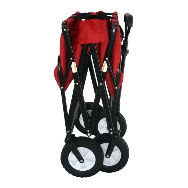 MAC-WTC-109-RED-U-A Mac Sports Collapsible Steel Frame Outdoor Utility Cart(Open Box) (2 Pack) 2