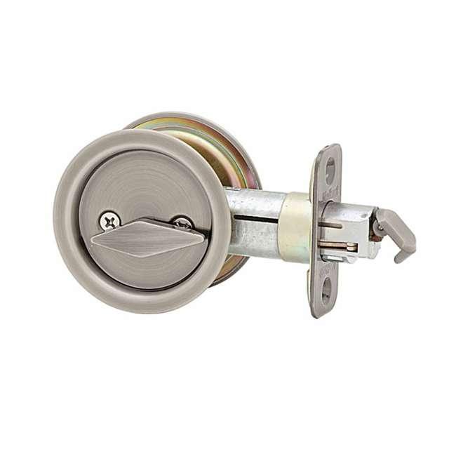 93350-011 Kwikset Bed Bathroom Privacy Sliding Door Lock, Antique Nickel (2 Pack) 1