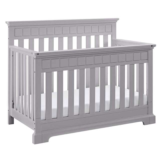 04565-50F + EM712-PHN1 Thomasville Kids Willow Crib, Pebble Gray & Sealy Soybean Mattress  1
