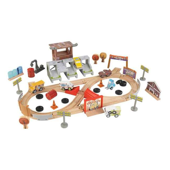 KDK-17212 Kidkraft Disney Pixar Cars 3 50 Piece Thunder Hollow Set