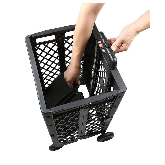 85-404 Olympia Tools 85-404 Pack n Roll Portable Folding Mesh Rolling Storage Cart 5
